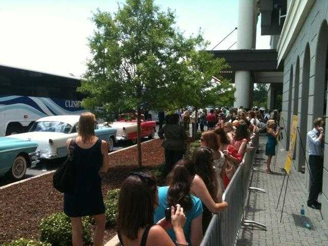"""Movie fans line up for a chance to see the stars of """"The Help,"""" which premiered in Madison."""