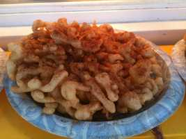 You can't leave the fair without eating a funnel cake!