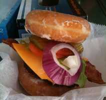 And of course, the donut burger.