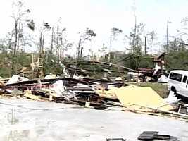 Yazoo City tornado damage
