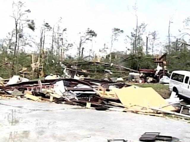 Yazoo City tornado damage