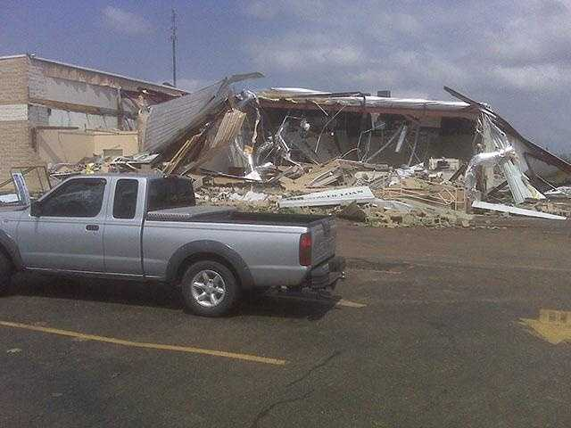 What's left of the Tower Loan building in Yazoo City. Click here for more images.