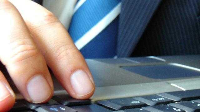 Computer keyboard typing - 18290758