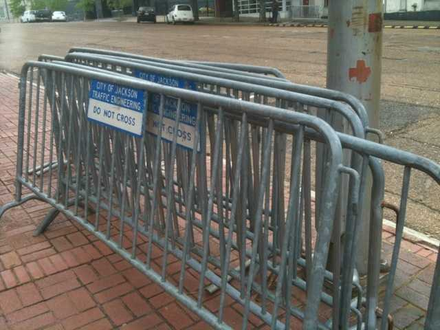 Barricades will be set up for Mal's St. Paddy's Parade.