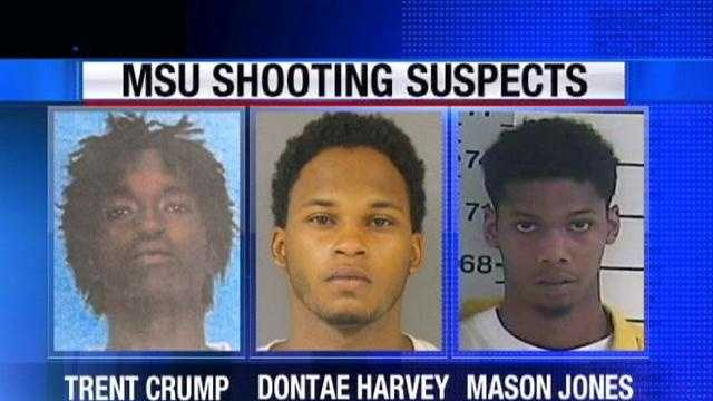 Three men have been charged in connection with the shooting death of an MSU student on campus.