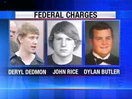 Deryl Dedmon, John Aaron Rice and Dylan Wade Butler have pleaded guilty to federal conspiracy and hate crime charges.