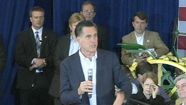 Mitt Romney makes a campaign stop in Jackson.