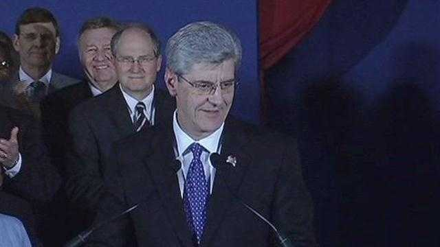 Gov. Phil Bryant presents his State of the State address in 2012.