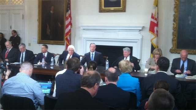 Gov. Martin O'Malley signs the doomsday budget plan the day after Sine Dine.