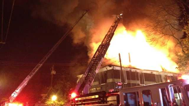 Fire officials say the bulk of the fire was out by 6:30 a.m.