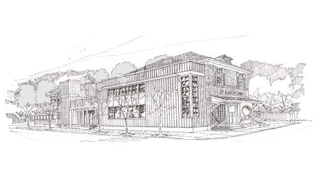 This is a sketch of what the Mount Washington Tavern is set to become.