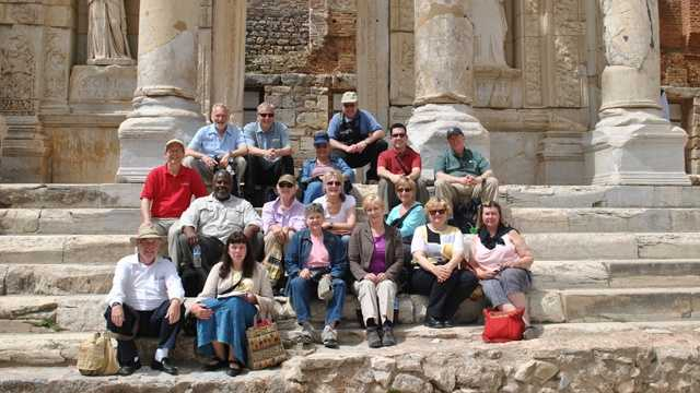 Tim visits Ephesus, Turkey, with his Bible study group.