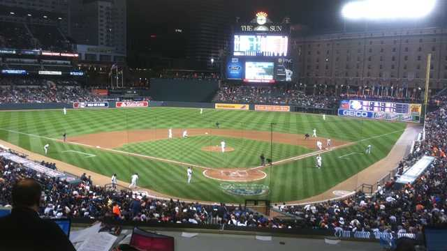 Oriole Park at Camden Yards night game
