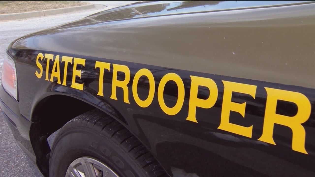 state trooper (marking on car)