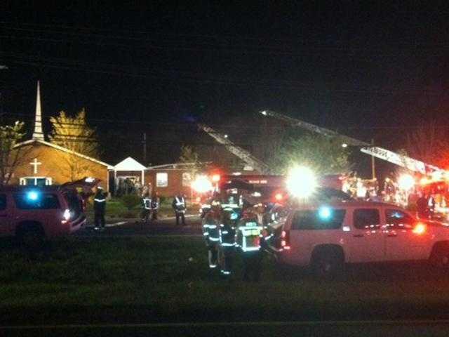 Pleasant Zion Baptist Church fire