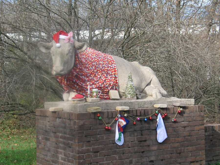 The cows are decorated for many holidays, and no one seems to mind. <b>See More Images Here.</b>