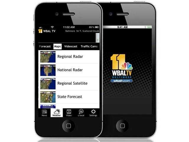 Many of the 11 Insta-Weather PLUS maps and graphics you see on WBAL-TV 11 News are on the app.