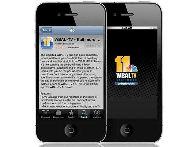 WBAL-TV 11's slick, brand new iPhone and Android app ready for you to download and enjoy.