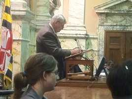 House Speaker Michael Busch calls for a vote.