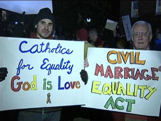 ... Same sex marriage supporters say they're trying to appeal to the Libertarian leanings of some GOP lawmakers.