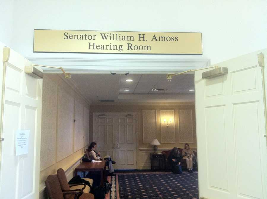 Hearing room where Sen. Currie met Monday with the joint committee on legislative ethics