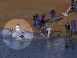 WBAL-TV 11 President and General Manager Dan Joerres plunges in 2012 with his family.