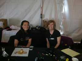 98 Rock's Sarah Fleischer (on right)