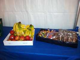They need steady supplies of food to keep their energy up throughout the 24-hour event!
