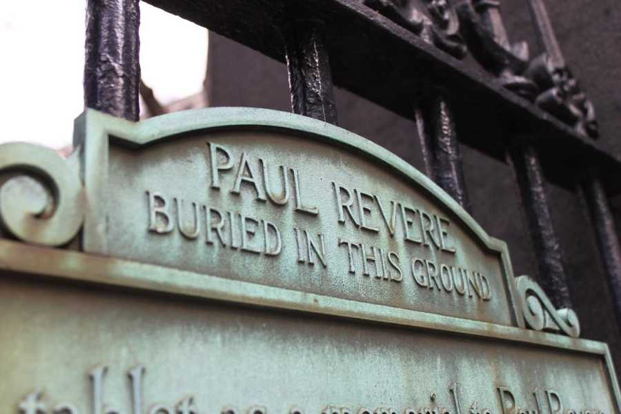 A hero of the American Revolution, Paul Revere,  lived in Boston and is buried here.