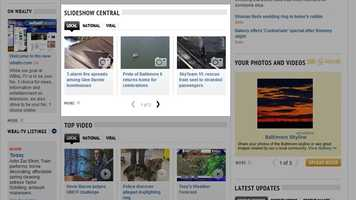 Some of the most popular items on WBALTV.com are our slideshows, which match compelling photos and news and information relevant to you.