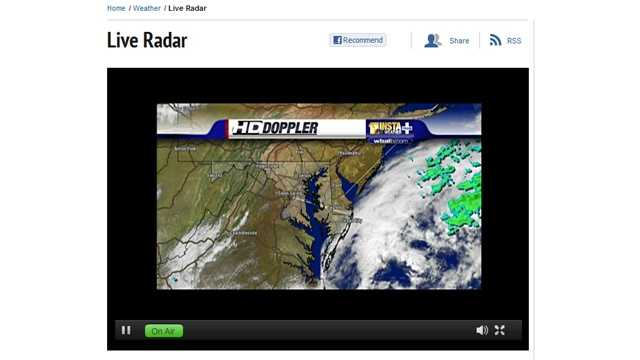 Our HD Doppler livestream shows you the latest image from our radar sources.
