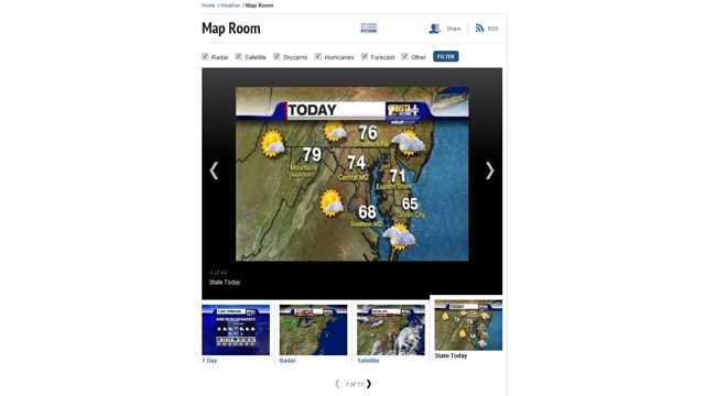 We offer the same maps you see during the 11 Insta-Weather PLUS forecasts on 11 News, right at your fingertips. See satellite and radar images and many more.