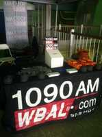 The WBAL Radio entertained and offered free gifts.