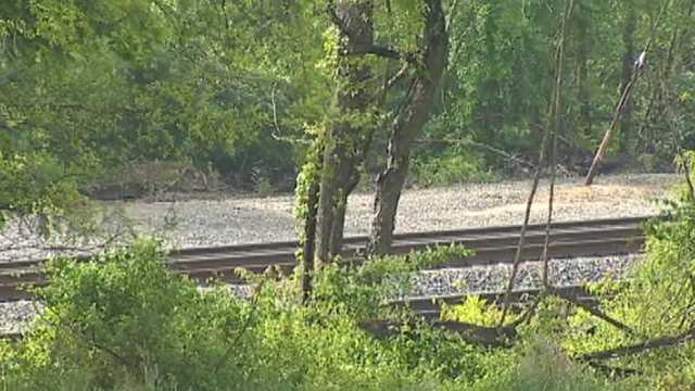 MARC train tracks in Rosedale