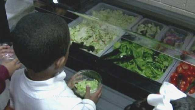 Calvin Rodwell Elementary salad bar