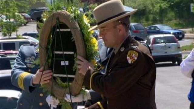 The law enforcement family honored his memory by adding to the list of fallen heroes.