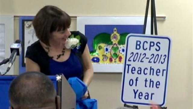 Angela Rountree gets her own parking space as Baltimore County's 2012 teacher of the year.