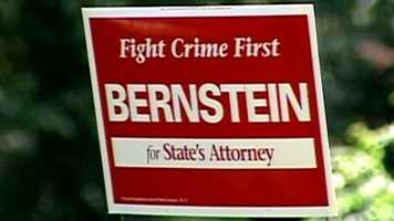 A battle raged in an ongoing feud between the prosecutors and the police. It all came to a head when Bealefeld posted this campaign sign in his front yard, advocating for challenger Gregg Bernstein over incumbent city State's Attorney Patricia Jessamy.