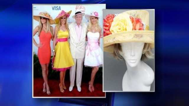 Two weeks before the 137th Preakness Stakes comes Susan DiMezza from Shop 4 Sparkles, with the latest hat styles the celebrities wear -- and how you can get them for less! Here's Hef's girl, Holly Madison.