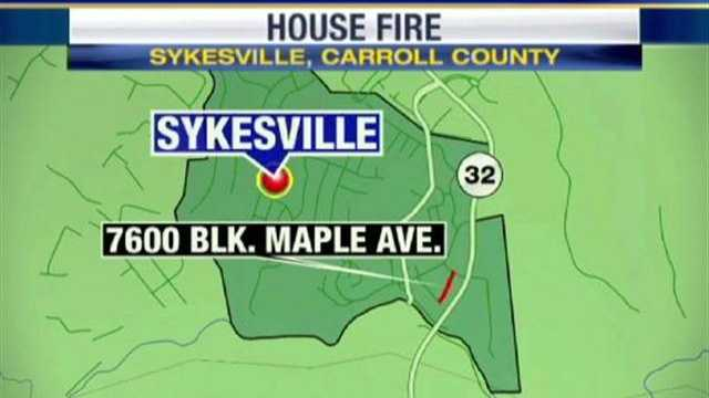 Sykesville fire map