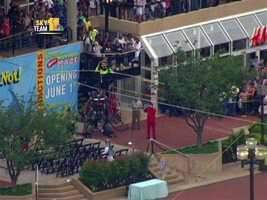 Wallenda says the 1,800-foot walk in New York will take about half hour -- double the event in Baltimore.