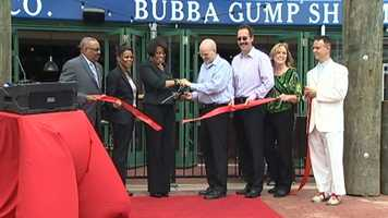 Baltimore Mayor Stephanie Rawlings-Blake -- who made sure to get a taste of shrimp -- said Thursday new tenants like Bubba truly shows the Inner Harbor's ability to change with the times.