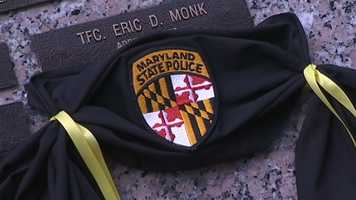 The Maryland State Police honored one of their own killed in the line of duty.