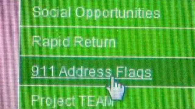 911 flagging system on website