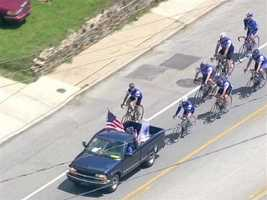 This year, the Baltimore Police Department has seven members on the tour riding through Baltimore to the National Law Enforcement Officer's Memorial and Museum in Washington, D.C.