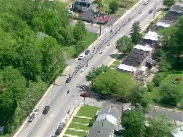 The Baltimore officers are riding in remembrance of Officer William H. Torbit Jr., who, with a civilian, was killed in gunfire outside a city nightclub.