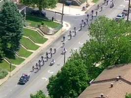 The fundraising bicycle ride raises money for the National Law Enforcement Officers Memorial.