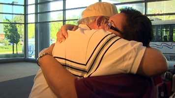 The tears flowed when a World War II veteran was reunited with his son after decades apart.