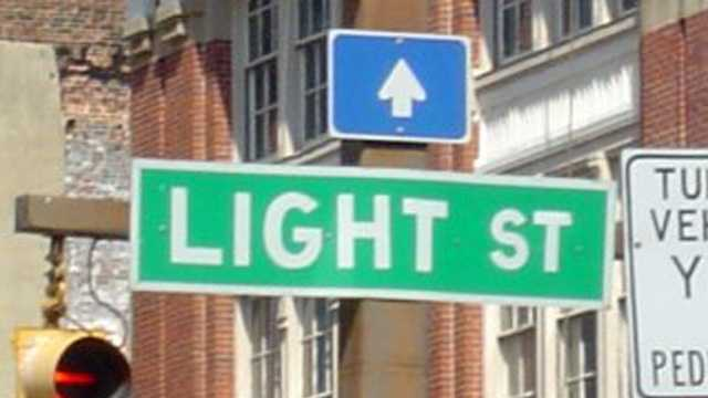 Light Street sign