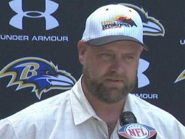 Kentucky Derby-winning I'll Have Another's trainer Doug O'Neill visits Ravens Camp | WBAL-TV\Ravens Broadcast Team